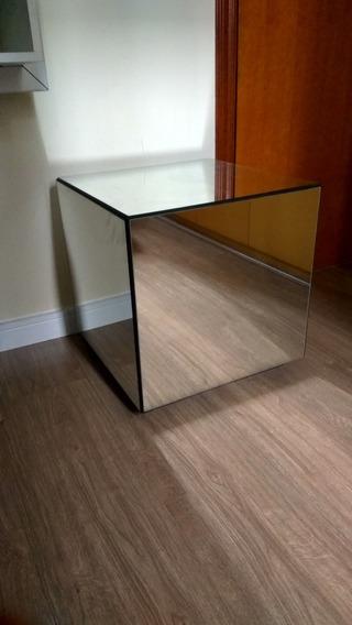 Criado Mudo Cubo Espelhado - Tok Stok
