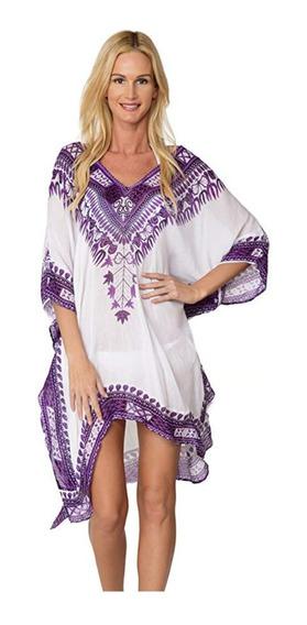 Salida De Playa - Vestido - Varios Colores - Poncho - Amplio