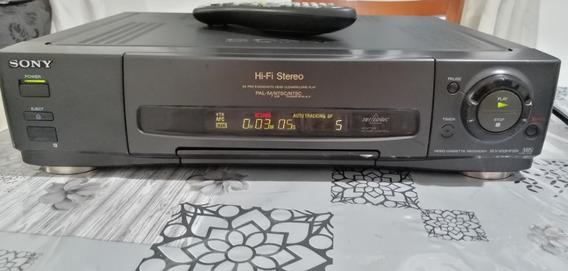 Video Cassete Sony Slv-833hfbr 4 Cabeças Stereo + Controle