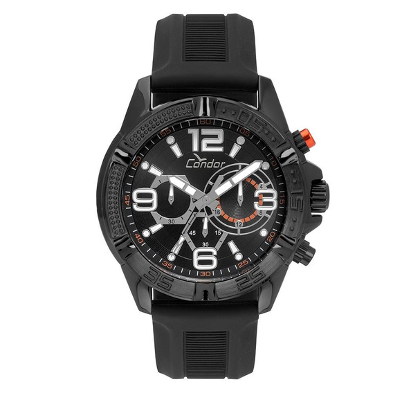 Relógio Condor Masculino Silicone Preto Covd54avul/8p