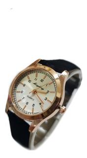 Reloj De Mujer Malla Simil Gamuza X 5