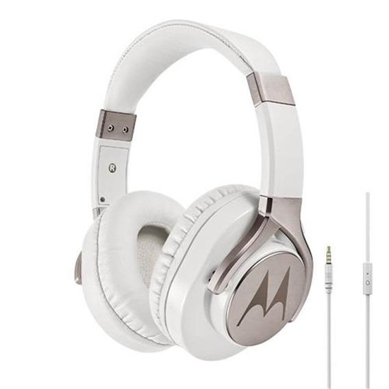 Fone Ouvido Motorola Pulse Max Com Microfone Sh004wh Branco