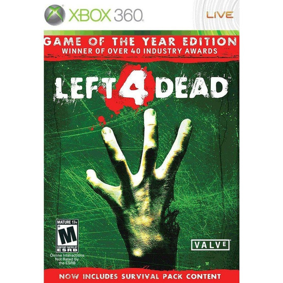 Left 4 Dead Xbox 360 Mídia Física Lacrado Leg Pt Br