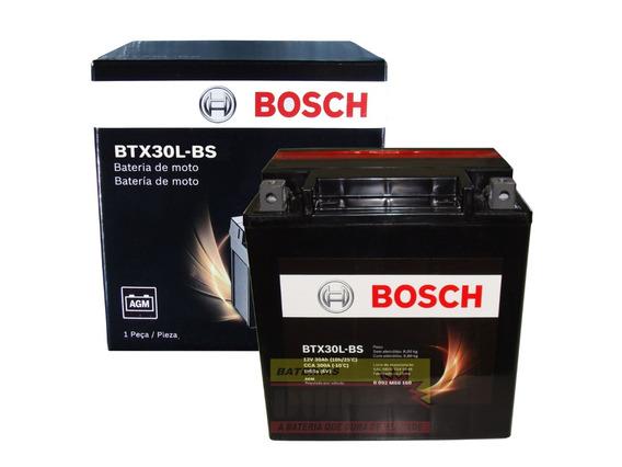 Bateria Moto Bosch Ytx30l-bs 30ah 12v Touring 1450 1580