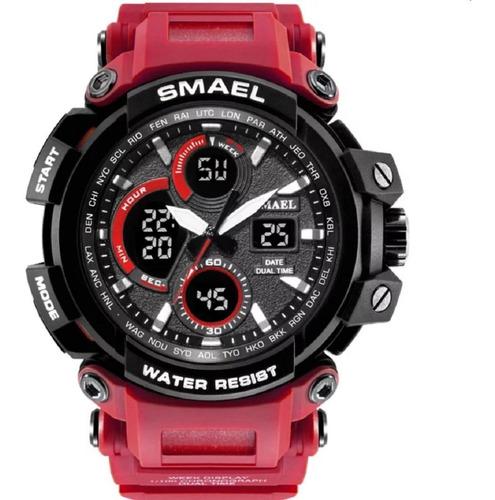 Relógio Masculino Smael Militar Prova D'água Digital Verme