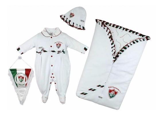 Saída Maternidade Fluminense Kit Luxo Oficial Menina