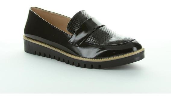 Zapato Cerrado Caramel Mujer Negro Tipo Charol 633
