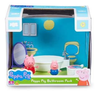 Peppa Pig Bathroom Pack Baño C/peppa George Bañadera Espejo
