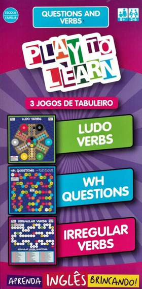 Play To Learn - 3 Jogos De Tabuleiro - Questions And Verbs