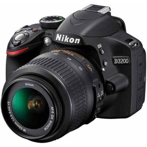 Câmera Fotográfica Profissional Nikon D3200 + Flash + Cartão