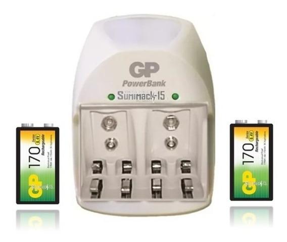 Cargador Con 2 Baterias 9v 170mah Gp Nitelite