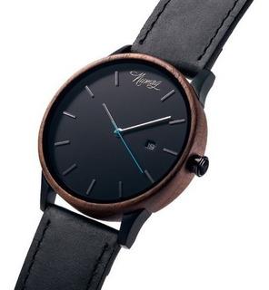 Reloj Hombre Pulsera Cuero 2019 Madera Numag Vincent