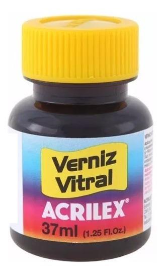 Verniz Vitral Acrilex 37 Ml Cor Preto 520