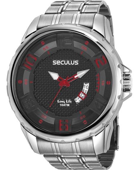 Relógio Masculino Seculus Aço Prateado 28997g0svna2z C/ Nfe