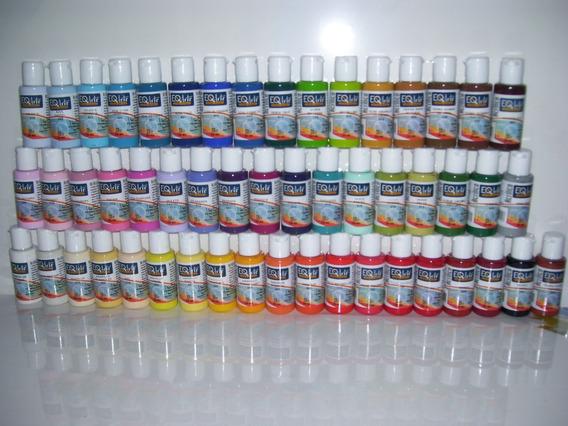 Set X 20 Pinturas Acrilicas Eqarte X 50cc (52 Colores)