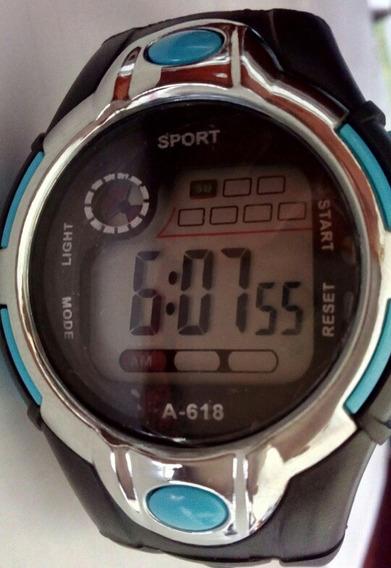 Relógio Sport Unisex Led Cronômetro Alarme Bem Confortável