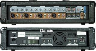 Amplificador Potencia Mixer 5 Entradas Salida 2 Bafles