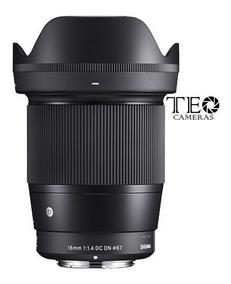 Lente Sigma 16mm F/1.4 Dc Dn Sony E-mount Aps-c Em Estoque