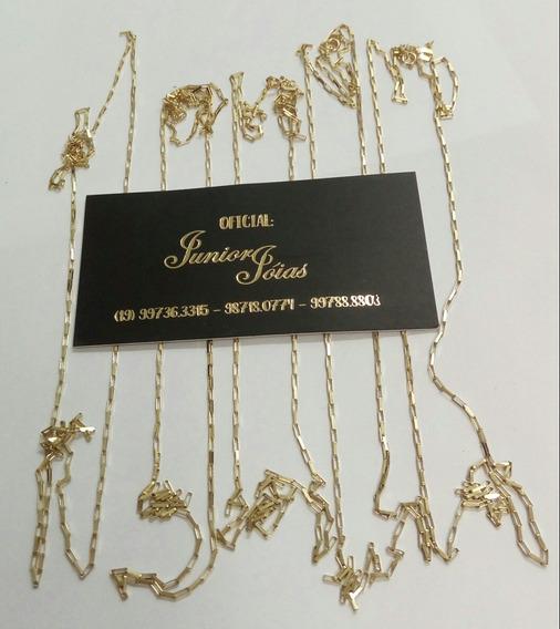 Corrente Cartier Em Ouro 18 Kl 2.70 Gramas 60 Centimetros