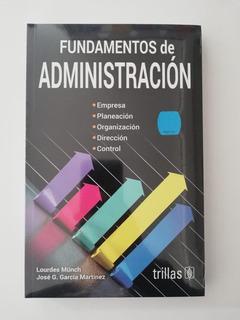 Libro Fundamentos De Administración Envío Gratis! Trillas