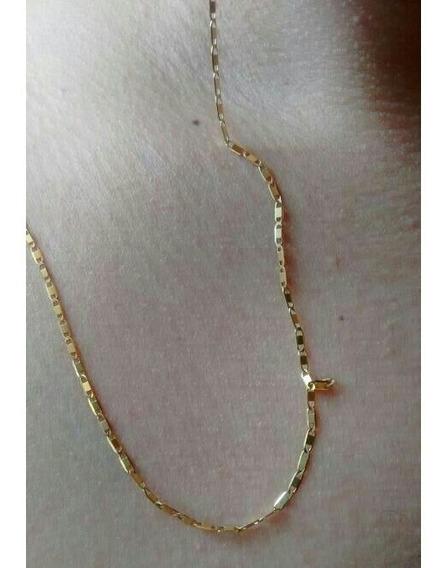 Corrente/cordão/colar De Ouro 50 Cm/ 24k