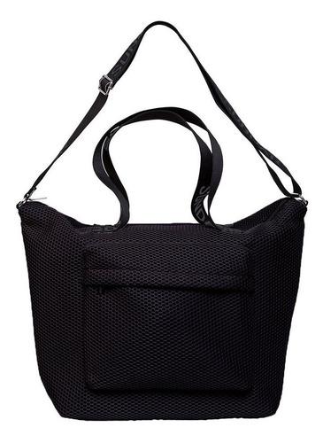 Imagen 1 de 3 de Bolsa Para Mujer Sundar Gym Negra C/cierre Original