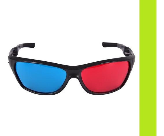 Óculos 3d Ótima Qualidade 100% Vermelho Azul Red Cyan