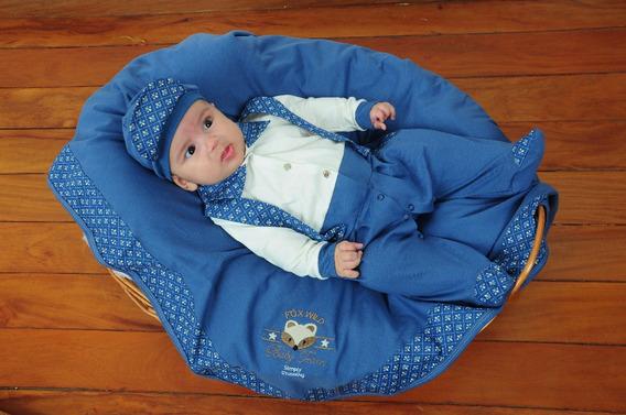 Saída De Maternidade Balila Menino Com Suspensório Azul