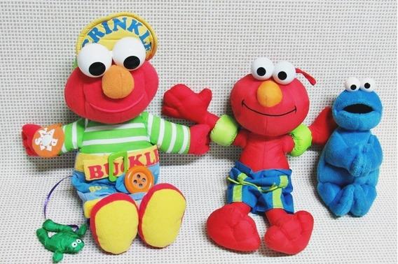 Elmo Vila Sesamo Pelucia Lote (3) Fisher Price 30 Cm Bau13