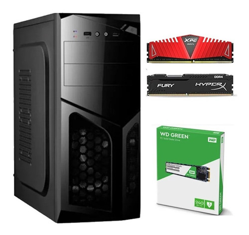 Pc Gamer A8 9600 Apu R7 8gb Ddr4 - Ssd Wd Green M.2 240gb