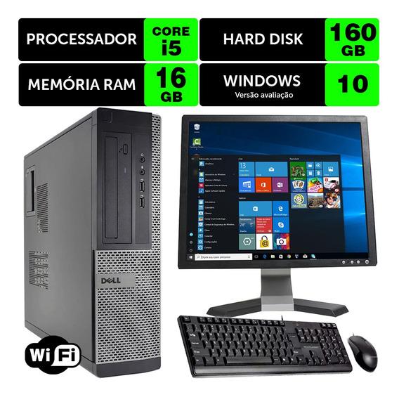 Computador Barato Dell Optiplex Int I5 2g 16gb 160gb Mon17q