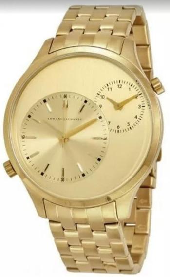 Relógio Armani Exchange Ax 2176 Banhado A Ouro 18k