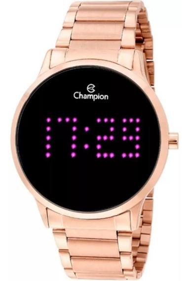Relógio Feminino Champion Rose Rosa Pink Led Digital Grande