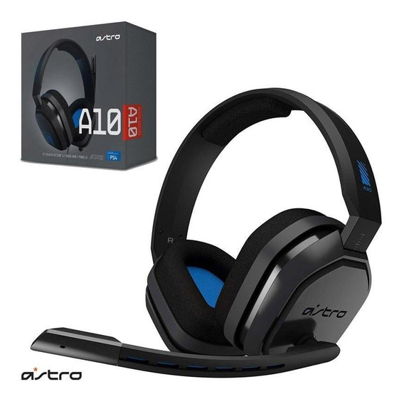 Headset Gamer Astro A10 Preto E Azul Ps4/switch/pc C/ Nota