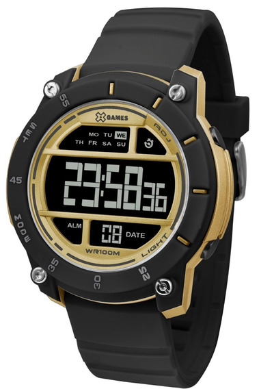 Relógio X-games Masculino Digital Xmppd517 Dourado Negativo