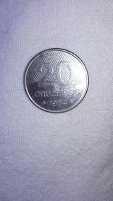 1 Moeda De 20 Cruzeiros Ano 1984 Frete Do Comprador