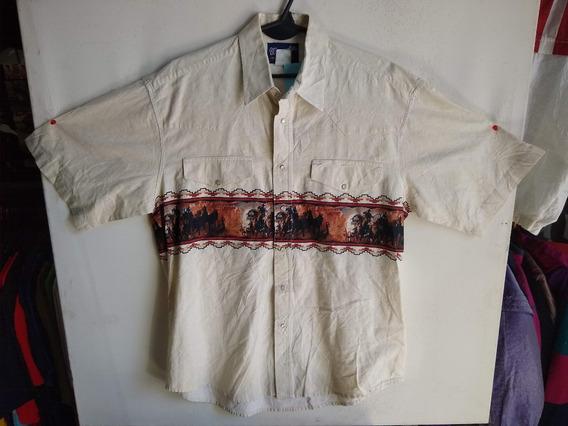 Camisa Western Cowboy Rodeo Countrie Texana Vaquero N 954