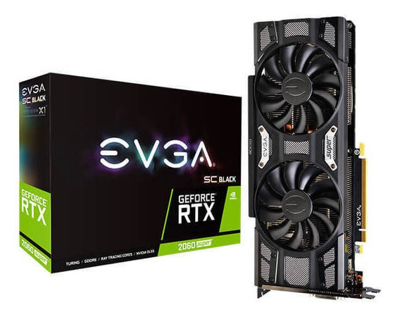Placa de video Nvidia Evga GeForce RTX 20 Series RTX 2060 SUPER 08G-P4-3062-KR 8GB