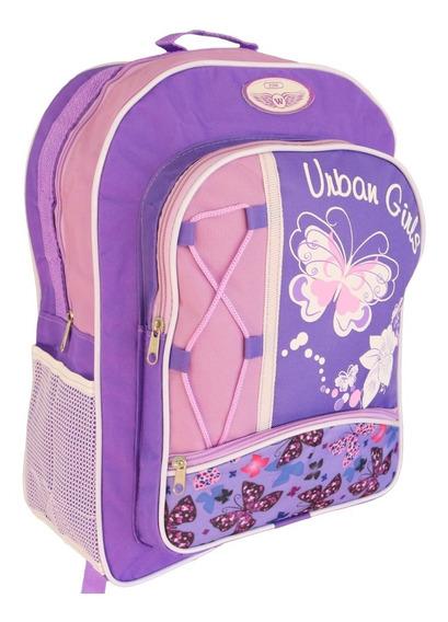 Mochila Escolar Infantil Urban Girls Fox W Flores
