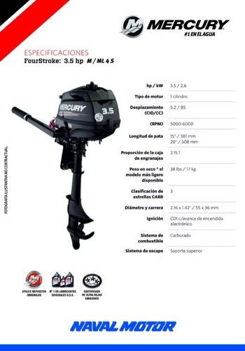 Motor Fuera De Borda Mercury 3.5 4 Tiempos