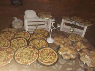 Pizzas Listas De Muzzarella Ideal Para Eventos Y Comercio