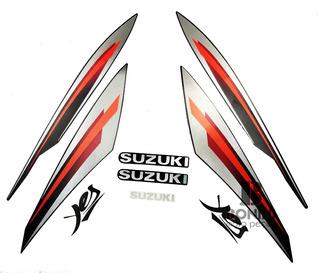 Kit Faixa Jogo Adesivo Suzuki Yes Preta 2009 / 2010