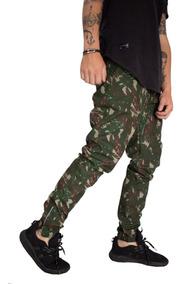 Calça Masculina Jogger Camuflado Em Rip Stop Soldier Swag