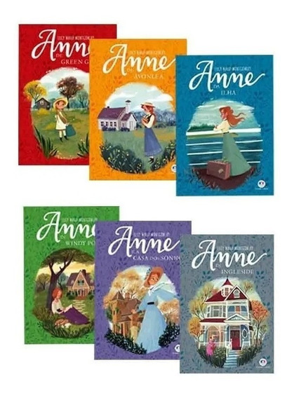 Livros Série Completa Anne With Ane 6 Livros