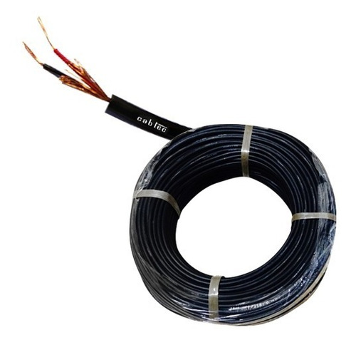 Rollo 100m Cable Stereo Sonido Audio Microfono 3,7mm Cabtec