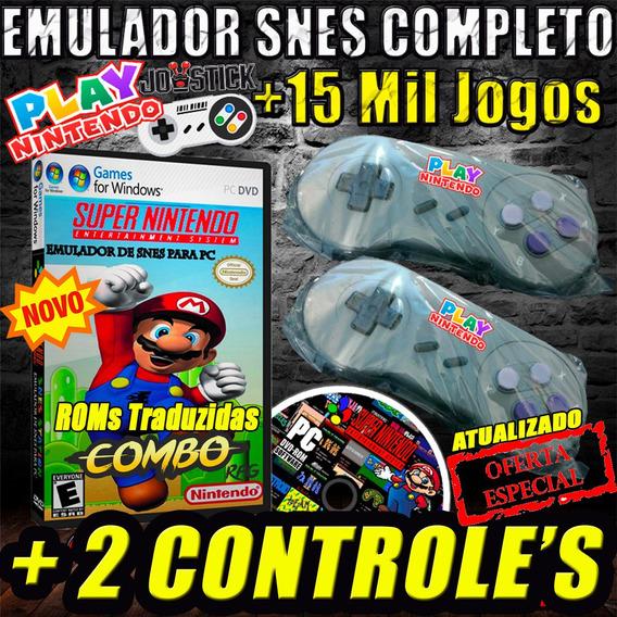 Super Nintendo Pc Emulador C/ 15 Mil Multijogos + Controles