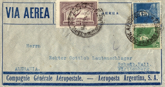 Argentina Sobre Via Aeropostale Año 1932