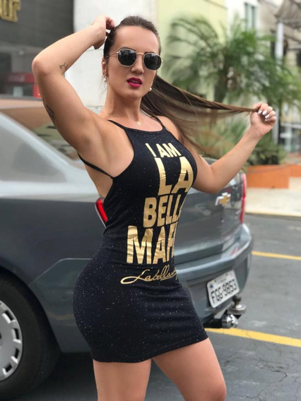 Vestido Curto Bella Mafia Alcinha Feminino Costas Nuas Justo