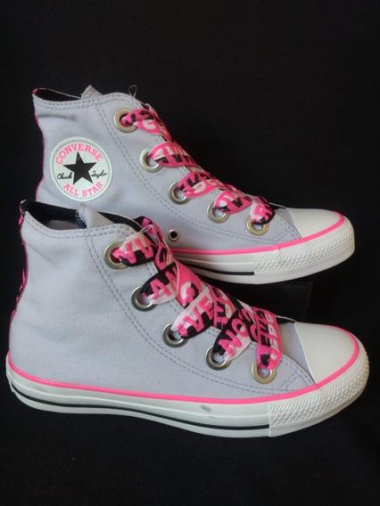 Tênis Converse Nº 37 - Botinha Lavanda Pink Fluor Branco