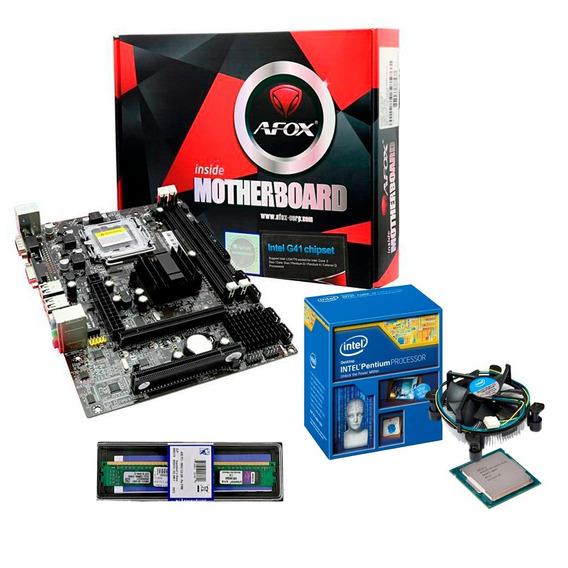 Kit Mb 775 Afox Ig41-ma7 + Pentium + 8gb Ddr3 1333